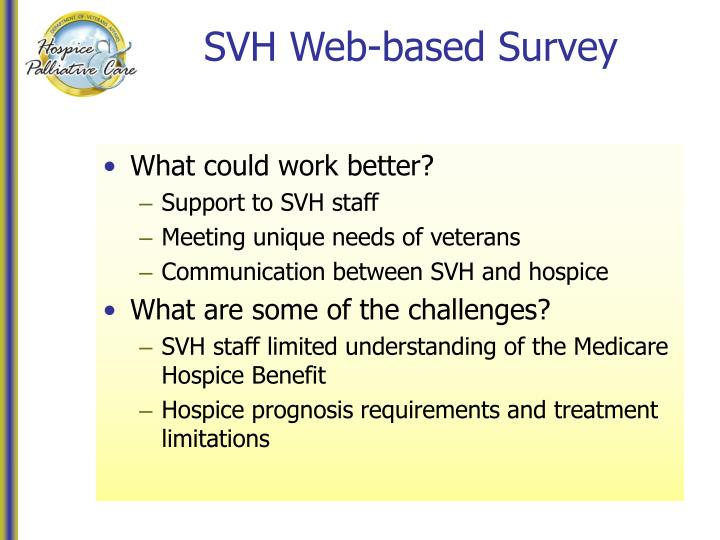 SVH Web-based Survey
