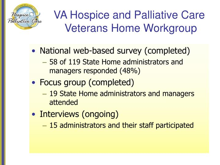 VA Hospice and Palliative Care