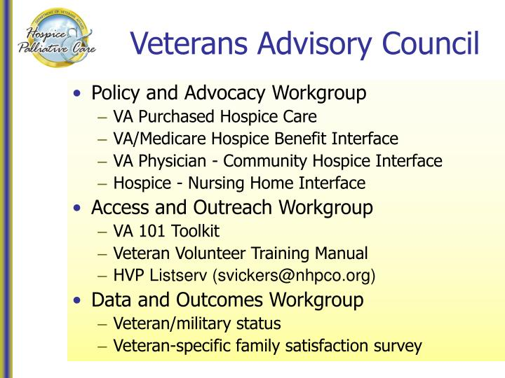 Veterans Advisory Council
