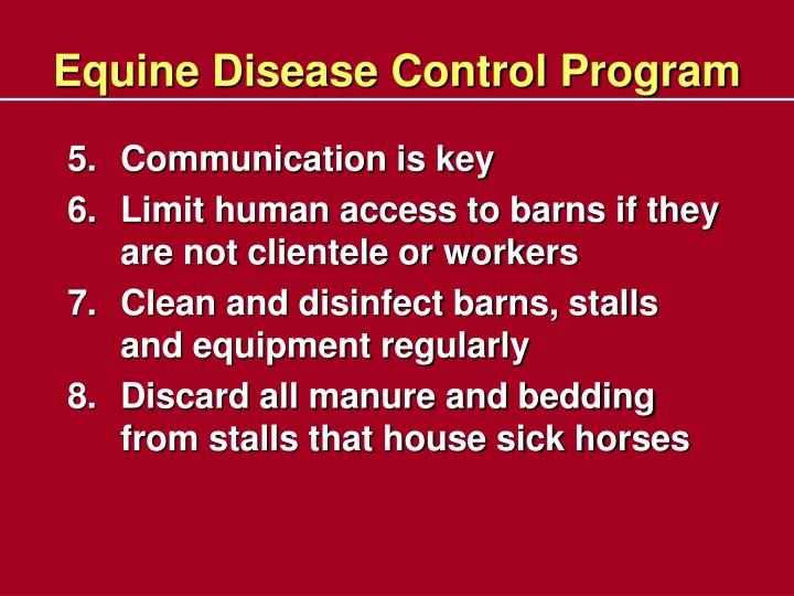 Equine Disease Control Program