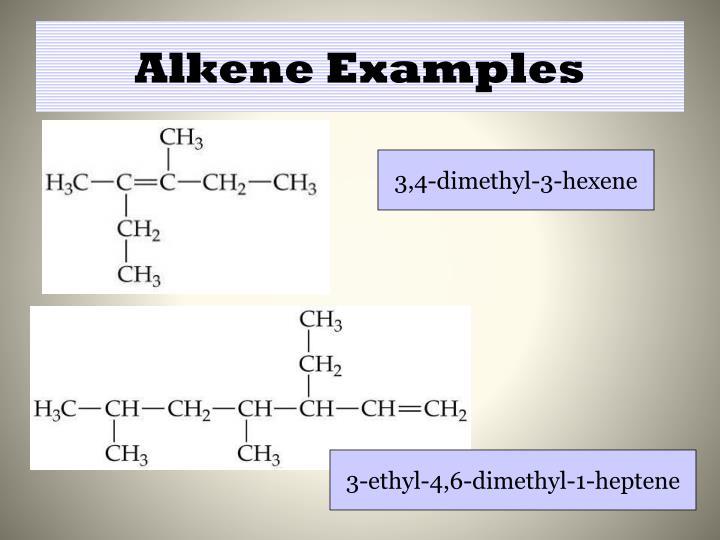 Alkene Examples
