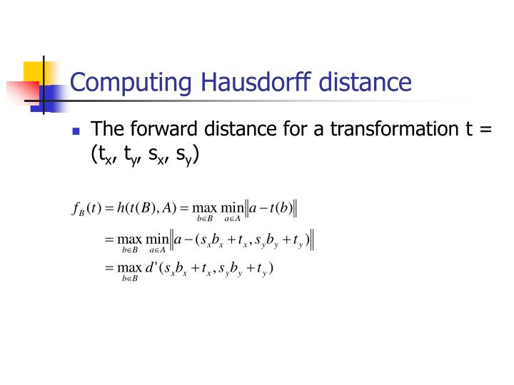 Computing Hausdorff distance