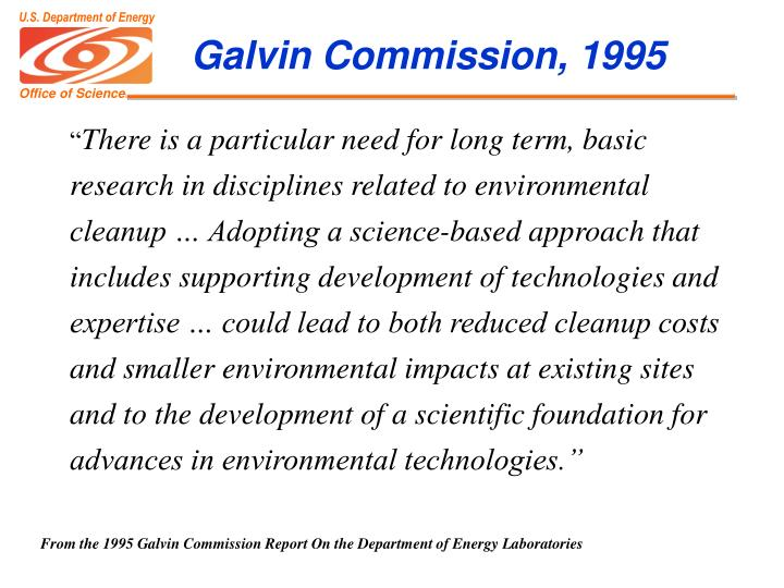 Galvin Commission, 1995