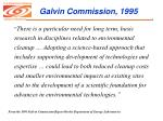 galvin commission 1995