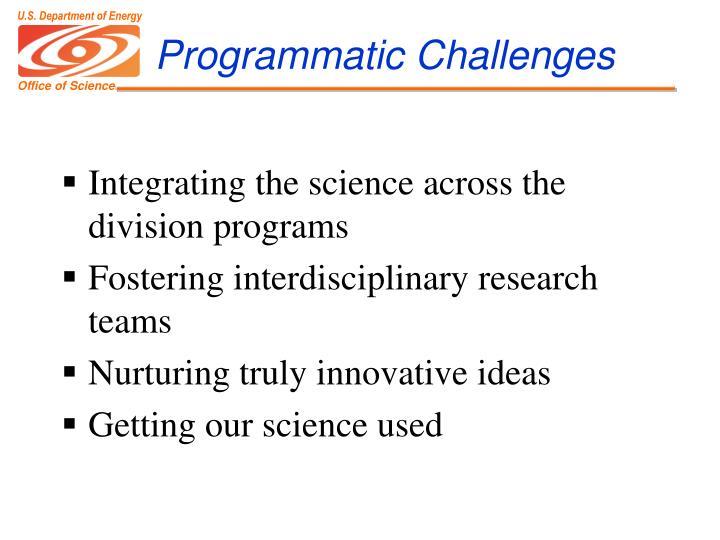 Programmatic Challenges