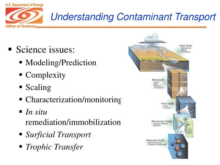 Understanding Contaminant Transport