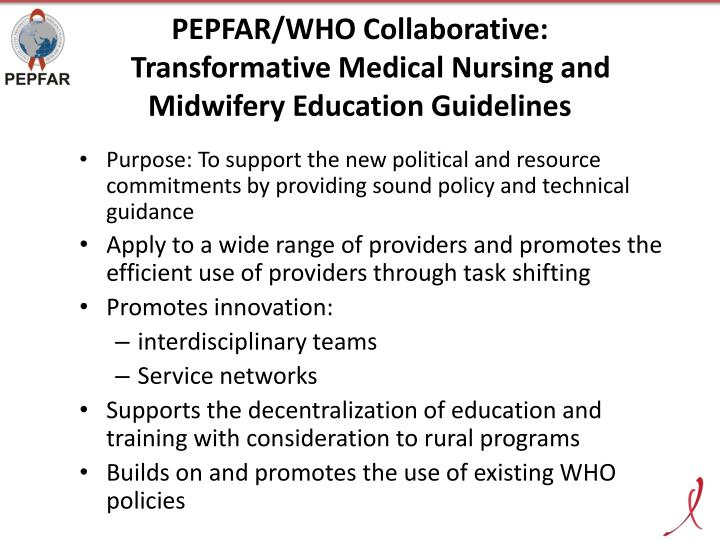 PEPFAR/WHO Collaborative:
