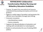 pepfar who collaborative transformative medical nursing and midwifery education guidelines