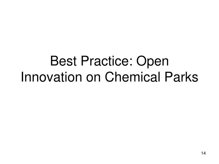 Best Practice: Open Innovation on Chemical Parks