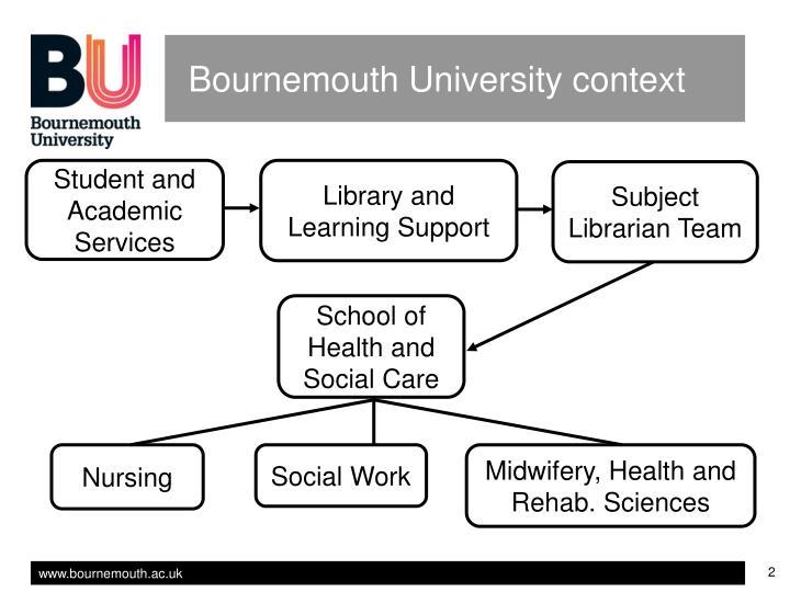 Bournemouth University context