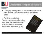 challenges higher education