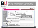 using information community1