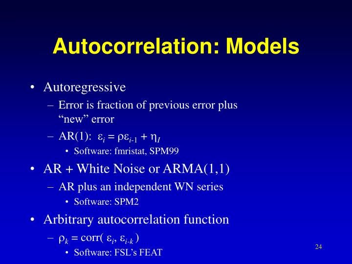 Autocorrelation: Models