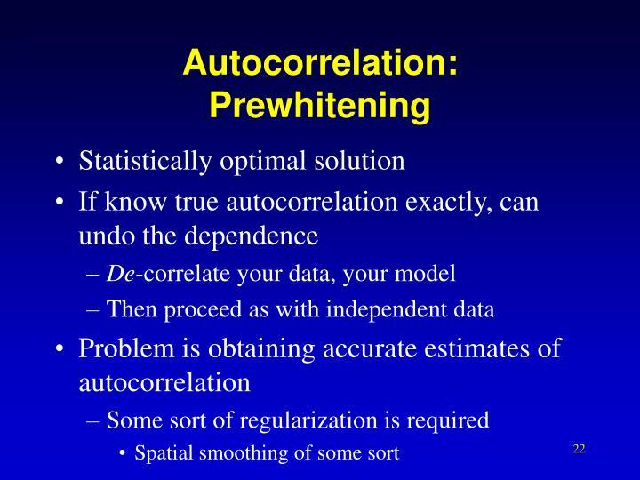 Autocorrelation: