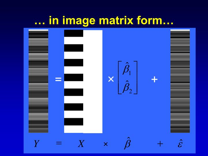 … in image matrix form…