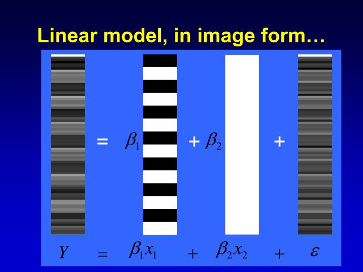 Linear model, in image form…