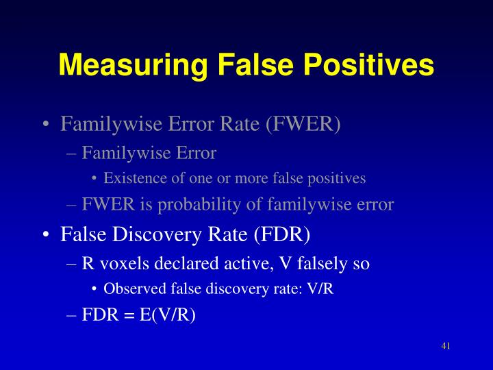 Measuring False Positives