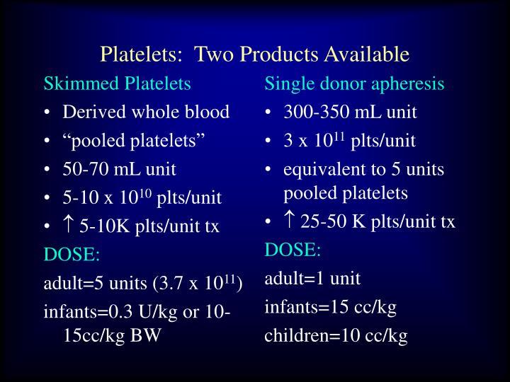 Skimmed Platelets
