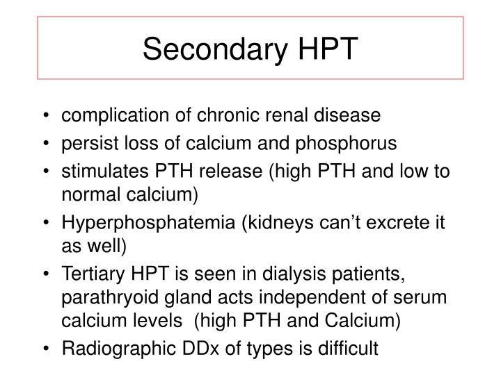 Secondary HPT