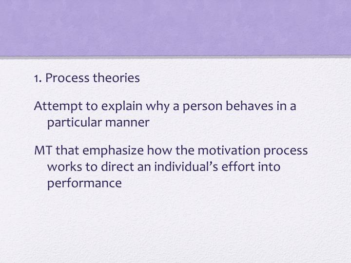 1. Process theories