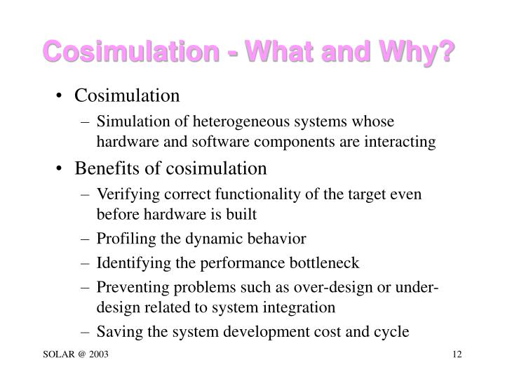 Cosimulation - What and Why?