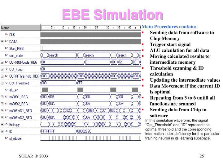 EBE Simulation