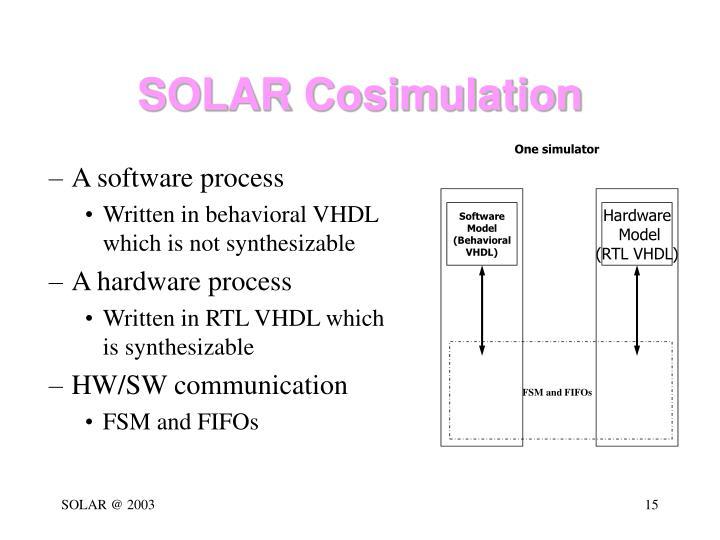 SOLAR Cosimulation