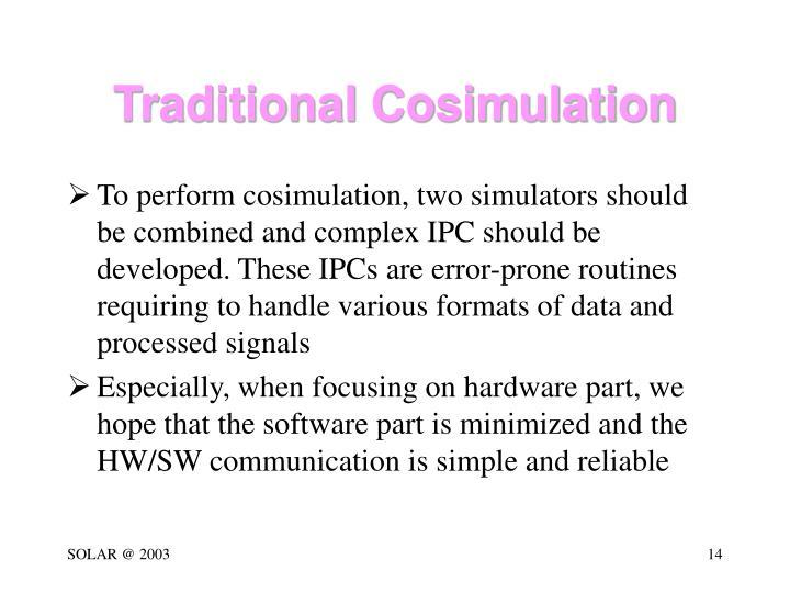 Traditional Cosimulation