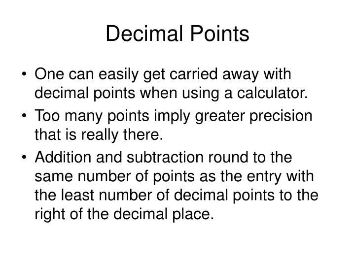Decimal Points
