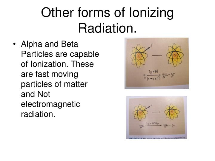 Other forms of Ionizing Radiation.