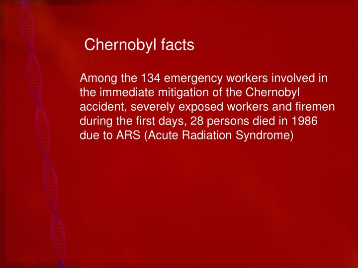 Chernobyl facts