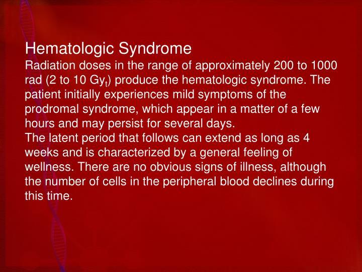 Hematologic Syndrome