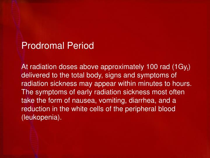 Prodromal Period