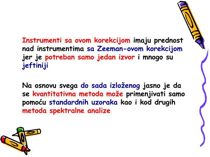 Instrumenti sa ovom korekcijom