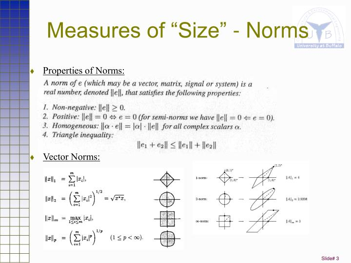 "Measures of ""Size"" - Norms"
