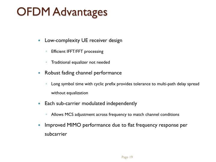 OFDM Advantages