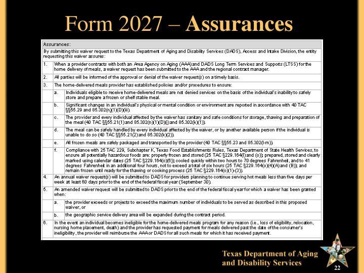 Form 2027 –