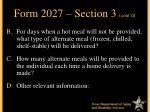 form 2027 section 3 cont d