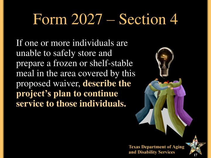 Form 2027 – Section 4