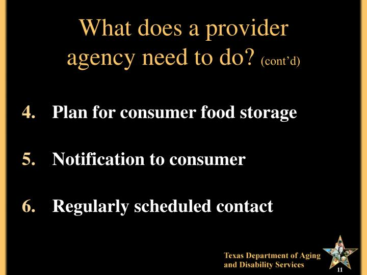What does a provider
