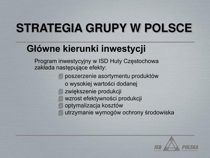 STRATEGIA GRUPY W POLSCE