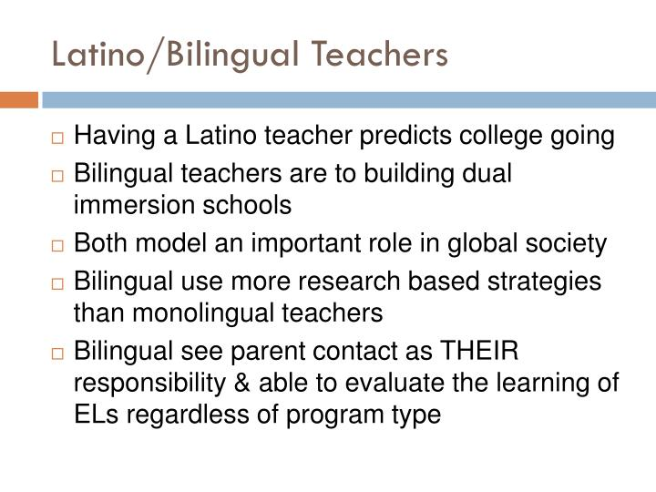 Latino/Bilingual Teachers