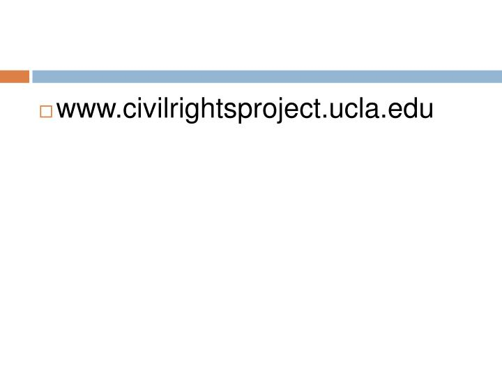 www.civilrightsproject.ucla.edu