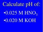 calculate ph of