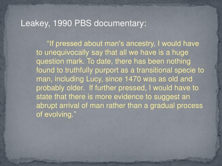 Leakey, 1990