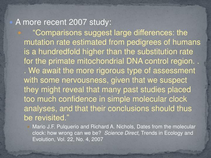 A more recent 2007 study: