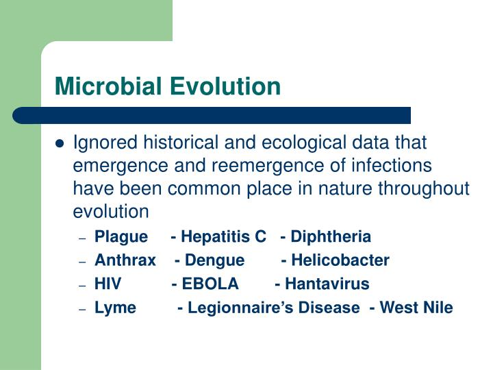 Microbial Evolution