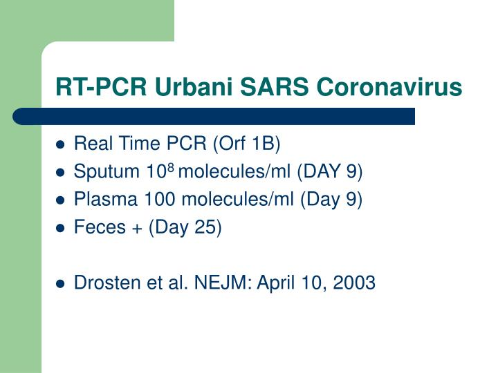 RT-PCR Urbani SARS Coronavirus