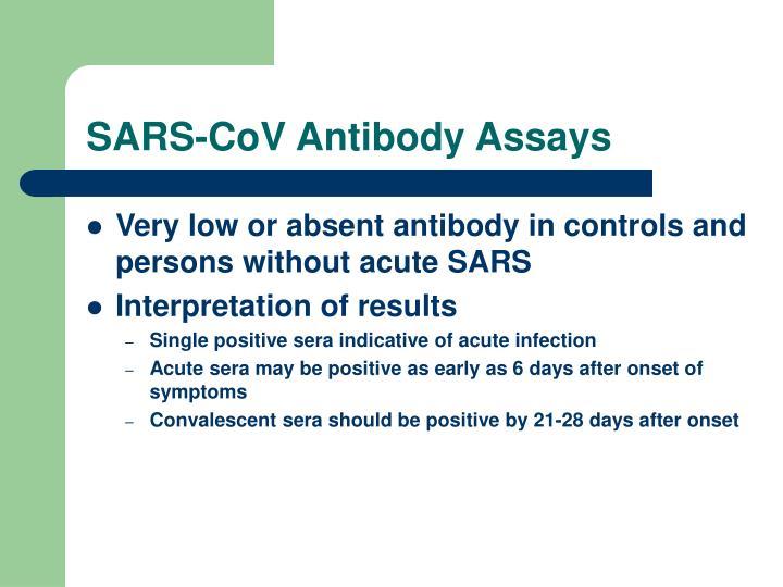 SARS-CoV Antibody Assays