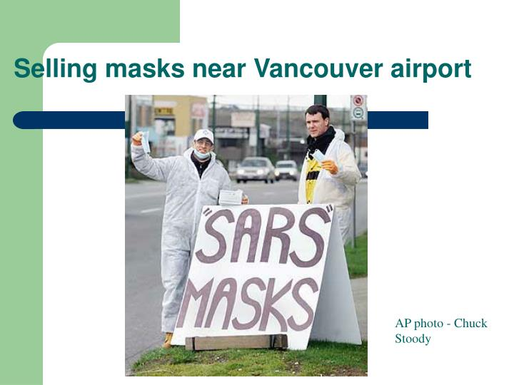 Selling masks near Vancouver airport